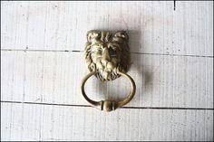 Lion Head Door Knocker // Solid Brass by buffalowinter on Etsy, $56.00