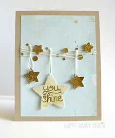 Lawn Fawn - Lucky Stars, Puffy Stars Stackables dies, Summertime Charm dies _ You Shine | Flickr - Photo Sharing!
