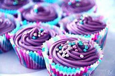 purple #cupcakes #purple
