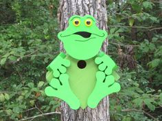 Frankie The Frog Birdhouse by CraftedCritters on Etsy, $55.00