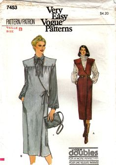 Misses Front Wrap Dress or Jumper Very Easy by stitchingbynumbers, $9.00