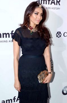 Kalyani Chawla, VP, Marketing Christian Dior Couture, looked fashionable in a black dress at the amfAR India gala. #Fashion #Style #Beauty #Page3