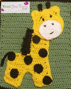 This is one of 12 Appliques needed to complete Knot Your Nana's Crochet's Zoo Blanket