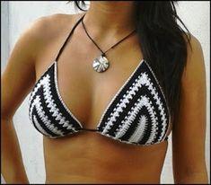 Classic Black Beach Swimwear Handmade crochet bikini Set S / M / L Crochet Lingerie, Crochet Bikini Top, Crochet Bathing Suits, The Bikini, Bikini Sexy, Crochet Fashion, Diy Crochet, Crochet Designs, Crochet Clothes