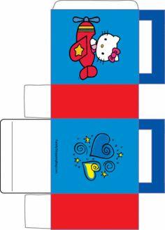 Hello Kitty Favor Box 2, Hello Kitty, Favor Box - Free Printable Ideas from Family Shoppingbag.com
