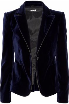 Miu Miu Leather-trimmed velvet blazer - $1195  found a vintage blazer for $17 that is exactly the same, minus the trim