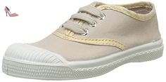 Bensimon Tennis Lacet Shinypiping, Baskets Basses Fille, Beige (Beige Coquille), 35 EU - Chaussures bensimon (*Partner-Link)