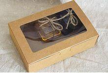 Qi Taille: 18*12*5 cm Kraft Fenêtre Boîtes D'emballage Personnalisé Cadeau Boîtes De Bonbons/Gâteau/savon/Cookie/Gâteau Boîtes d'emballage 10 pcs/lot(China (Mainland))