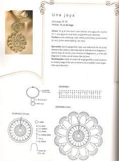 Patrones para Crochet: Gargantilla Circulo Mandala Patron