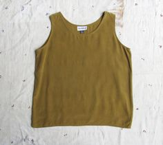 vintage c. 1980s bronze silk tank M by MouseTrapVintage on Etsy, $32.00