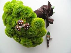 Moss and Mushroom Bouquet