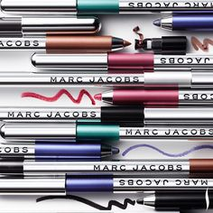 The intensity of a gel liner with the ease of a pencil. Marc Jacobs Beauty Highliner Gel Crayon. #HotNow #Sephora
