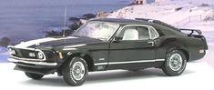 PhillyMint-Franklin Mint 1970 Ford Mustang Mach 1 Black Ltd Ed 1:24 diecast model