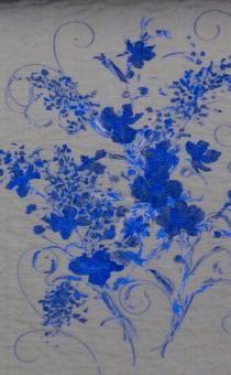Silk Blend Metallic Fil Coupé Organza Cloqué Panel