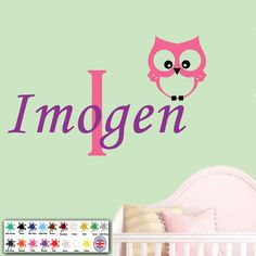 Owl Kids Wall Art Personalised Children Sticker Name Baby Girl Nursery Bedroom  in Home, Furniture & DIY, Home Decor, Wall Decals & Stickers | eBay!