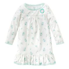 Carter's Floral Cat Nightgown - Toddler