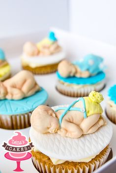 Baby boy Reception cupcakes by Zeina's