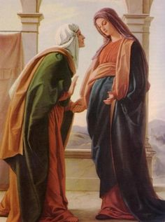 Our Lady and St. An unborn child . John the Baptist . Recognized the greatness of the unborn Christ Child. Blessed Mother Mary, Blessed Virgin Mary, Mother Heart, Life Is Precious, Catholic Quotes, Catholic Prayers, Choose Life, John The Baptist, Our Lady