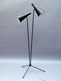 Alf Svensson; Enameled Metal Floor Lamp for Bergboms, c1956.