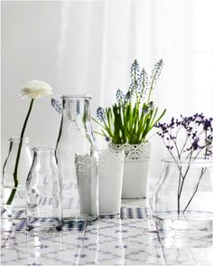 Our new ENSIDIG vases were inspired by traditional milk bottles and jars.