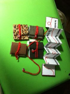 """mini leather books with quote """"Red Thread"""""""