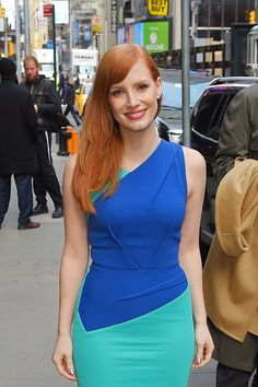 Jessica Chastain sighting on November 3, 2014 in New York City.