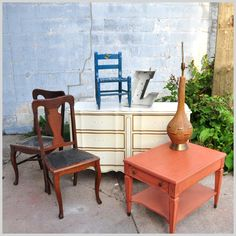 Tip Tuesday #4 - Prepping furniture pieces before painting them with Clay/Chalk/Mineral Base Paints. There are many items that can be painted with American Paint Company paints.  Stained and uretha...