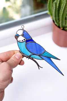Stained Glass Budgie Suncatcher Bird Gifts For Bird Lovers Custom . - Stained Glass Budgie Suncatcher Bird Gifts For Bird Lovers Custom Stained Glass Window Shades – # - Custom Stained Glass, Stained Glass Birds, Stained Glass Suncatchers, Stained Glass Lamps, Stained Glass Designs, Stained Glass Panels, Stained Glass Projects, Stained Glass Patterns, Stained Glass Studio