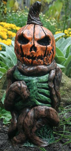 """The Great Pumpkin Corpse by RevenantFX on Etsy"" See all of their holiday themed zombie lawn gnomes here: https://www.etsy.com/shop/RevenantFX?section_id=14646717"