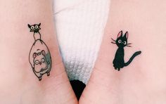 My Neighbour Totoro tattoos - neither of these tattoos are totoro tattoos but they are still cute