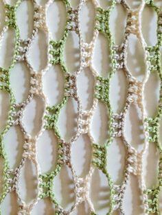 Naturaleza corazón perlas ganchillo bufanda por GabyCrochetCrafts
