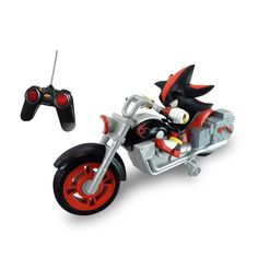 This NKOK Full Function RC Shadow Motorcycle features an assembled design and is ready to go. This motorcycle includes a push button to control lights and sounds. Shadow The Hedgehog, Sonic The Hedgehog, Front Wheel Alignment, It Georgie, Sonic Birthday, Pokemon, Speed Of Sound, Sonic And Shadow, Mario Party