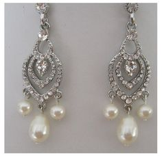 BrideBridesmaids Crown Rhinestone Pearls Neckalce by maylui, $120.00
