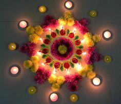 Beautiful n unique flower design for festival