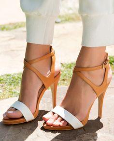 White + Tan Sandal