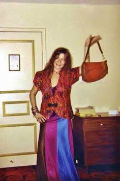 Janis showed off her new purse.