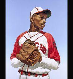 Baseball Art, Baseball Players, Hockey, Negro League Baseball, Sports Painting, American Athletes, Diamonds In The Sky, Black Characters, Sports Figures