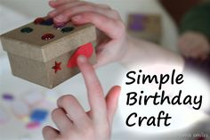 decorating small boxes as a birthday party craft