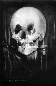 "Charles Allan Gilbert seems to be the one credited with the original ""skull illusion"" painting with his painting ""All Is Vanity"" inspired by the Latin phrase ""Vanitas Vanitatum, Omnia Vanitas"" from Ecclesiastes Optical Illusion Images, Illusion Kunst, Optical Illusions, Optical Illusion Tattoo, Illusion Pictures, Memento Mori, All Is Vanity, Skull And Bones, Skull Art"
