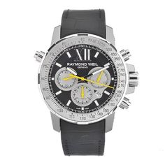 Raymond Weil Men's 7800-Tir-00207 Automatic Titanium Black Dial Chronograph Watch Raymond Weil. $2600.00. Case diameter: 46 mm. Durable sapphire crystal protects watch from scratches,. Water-resistant to 200 M (660 feet). Automatic movement. Casual watch