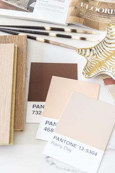2020 flooring trends moodboard home decor trends with CarpetOne on Thou Swell #homedecor #homedecortrends #flooring #2020trends #flooringtrends #materials #renovation Shell Bracelet, Luxury Vinyl Plank, Carpet Tiles, Color Of The Year, Pantone Color, Home Decor Trends, Fabric Art, Mood Boards, Design Projects