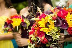 Bridesmaid Bouquets! (photo credit to Melanie Kercheval)