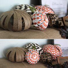 easy patterned paper pumpkins {kids can doit!} - itsalwaysautumn - it's always autumn