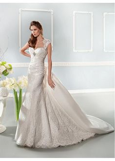 CHARMING LACE SWEETHEART NECKLINE INVERTED BASQUE WAISTLINE MERMAID WEDDING DRESS SEXY LADY LACE FORMAL PROM
