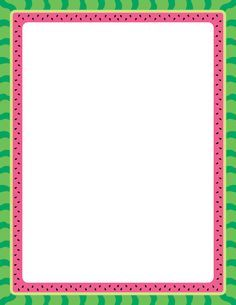 Printable watermelon border. Free GIF, JPG, PDF, and PNG downloads at http://pageborders.org/download/watermelon-border/