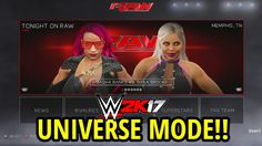 WWE 2K17 UNIVERSE MODE!! (FULL BREAKDOWN, CREATE A SHOW, BRAND SPLIT!!)