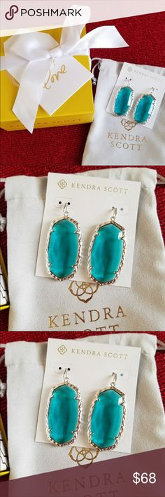 "Kendra Scott Ella Earrings London Blue Re-posh. Brand new from the Kendra Scott collection. Ella earrings in London Blue and hammered rhodium/silver. Box and dust bag included. 2.2"" L x .95"" W. Ended up being a little big for my taste but they are gorgeous. Kendra Scott Jewelry Earrings"