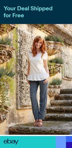 da860493a49b New Matilda Jane Womens SIZE XS S M L Hello Lovely Blue Blossom Pants NWT
