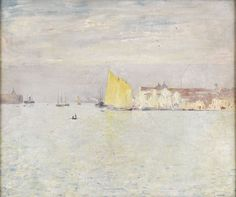 """Venice,"" Emil Carlsen, canvas mounted on board, 20 x 25"", private collection."