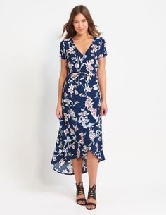 Lilly Wrap Over Floral Dress | Dotti